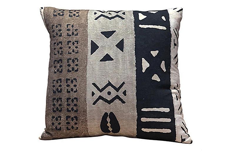 Patton 24x24 Pillow, Toffee/Multi