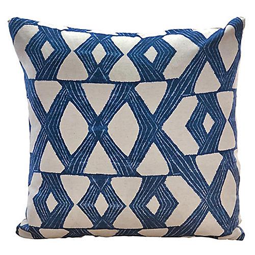 Daxton 22x22 Pillow, Indigo