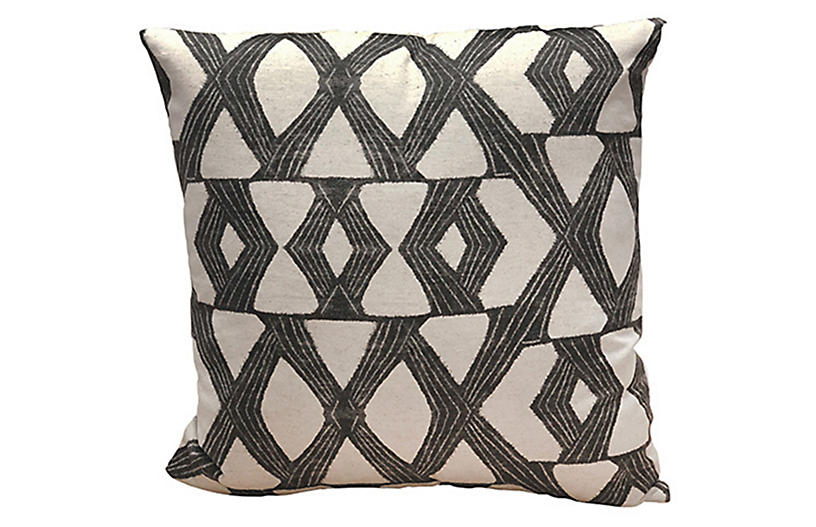 Daxton 22x22 Pillow, Charcoal
