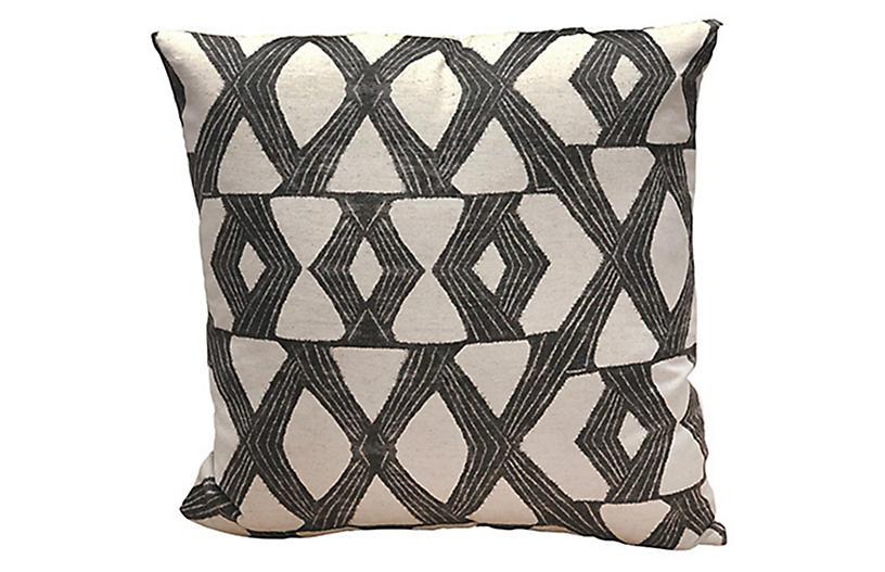 Daxton 22x22 Pillow, Charcoal