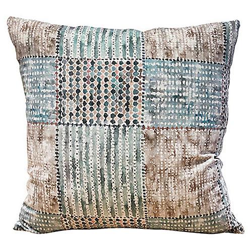Veronica 20x20 Pillow, Aqua/Multi