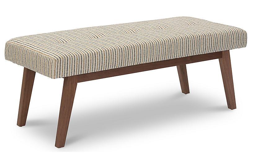 Bleeker Bench, Natural/Multi Stripe