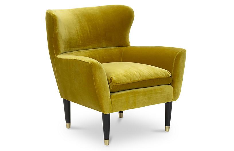 Norah Chair, Citrine Velvet