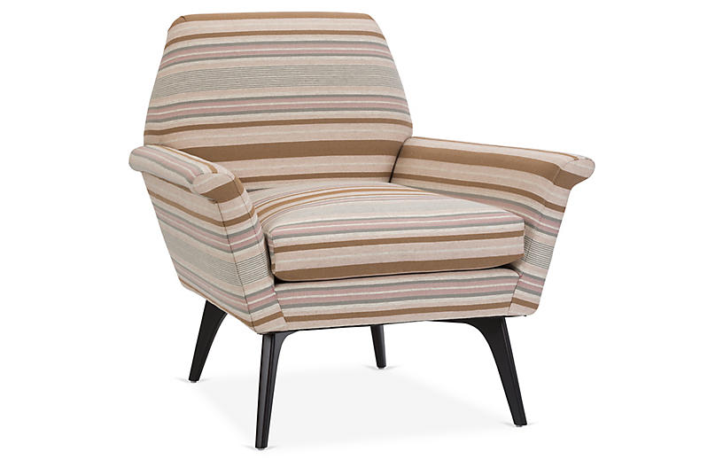 Rowan Chair, Brown Stripe