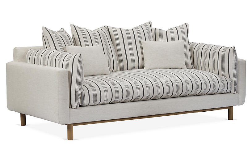 Sawyer Sofa, Gray/Snow