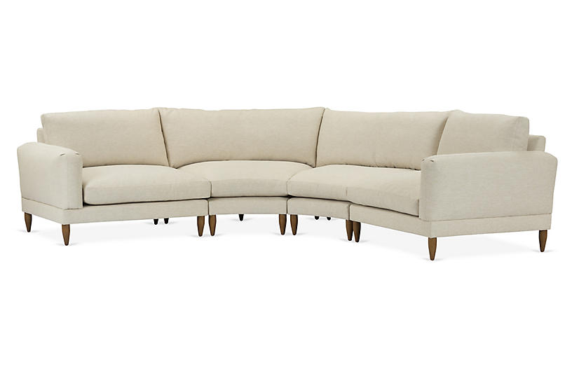 Saxton 4-Pc Sectional, Beige