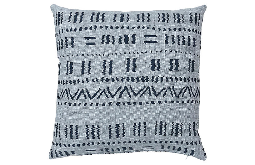 Haley 20x20 Pillow, Blue