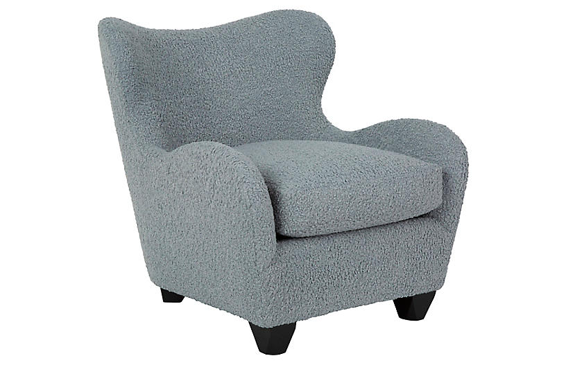 Zola Chair, Plush Heather Blue