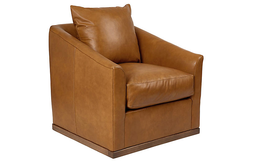 Ryder Swivel Leather Chair
