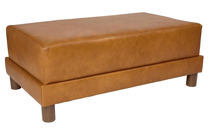 Cutler Leather Ottoman