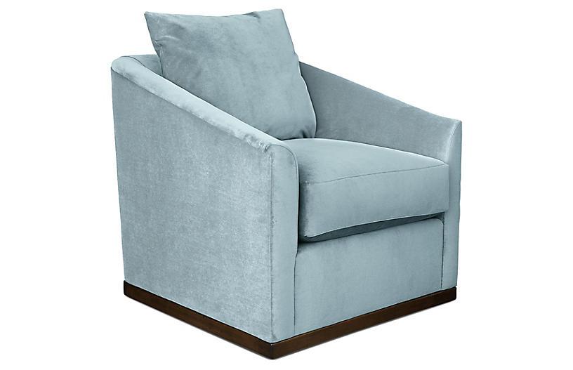 Ryder Swivel Velvet Chair