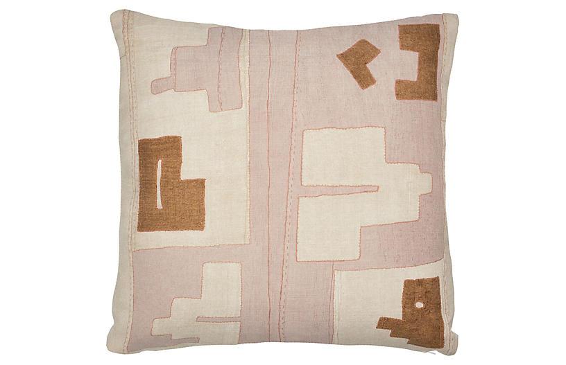 Arlo 21x21 Outdoor Pillow, Blush