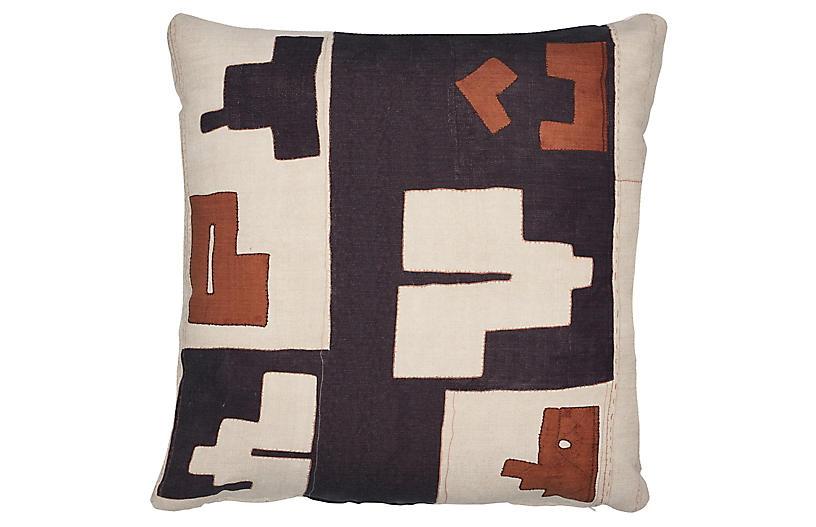 Arlo 21x21 Outdoor Pillow, Black/Ochre