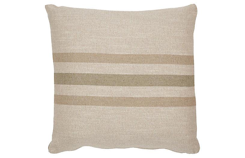 Knox 20x20 Pillow, Sage/Linen
