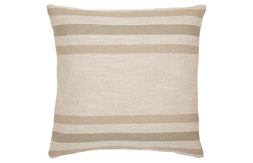 Jude 22x22 Pillow, Sage/Linen