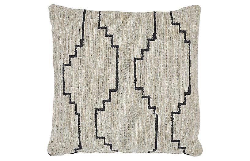 Tate 20x20 Pillow, Gray/Neutral