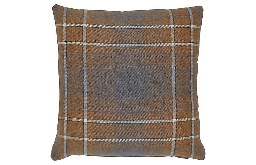 Avery 20x20 Pillow, Ochre/Gray