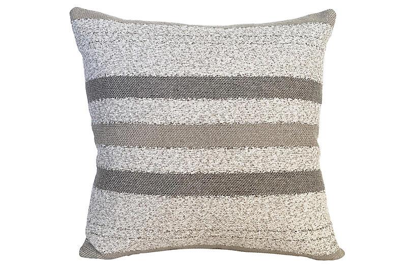 Willow 22x22 Pillow, Gray
