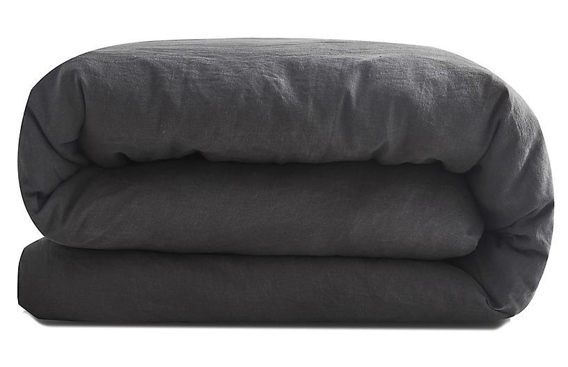 French Linen Duvet Cover, Slate