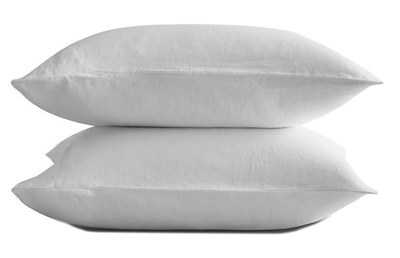 French Linen Pillowcase Set, Snow
