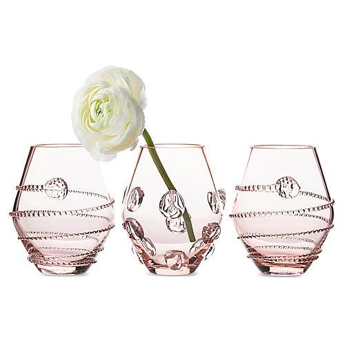 Asst. of 3 Amalia Mini Vases, Pink