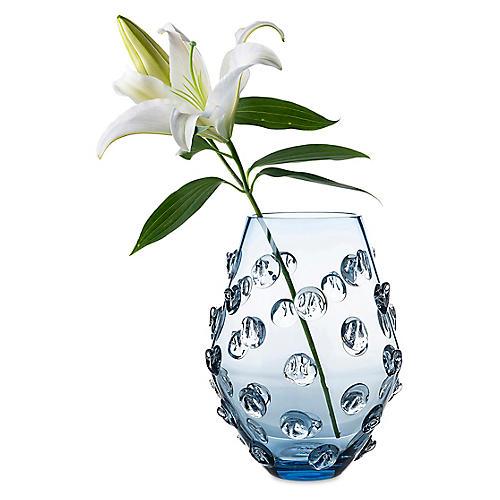 """11"""" Florence Vase, Blue"""
