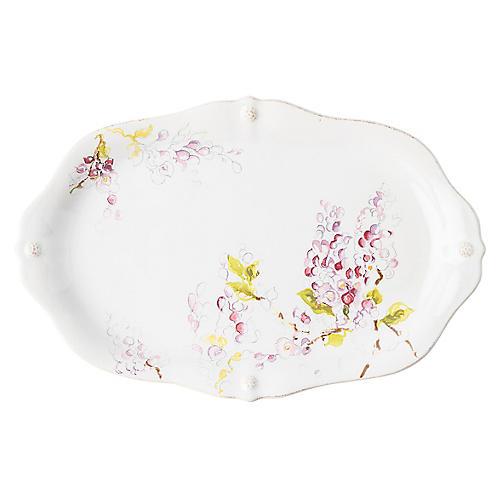Berry & Thread Wisteria Platter, White/Multi