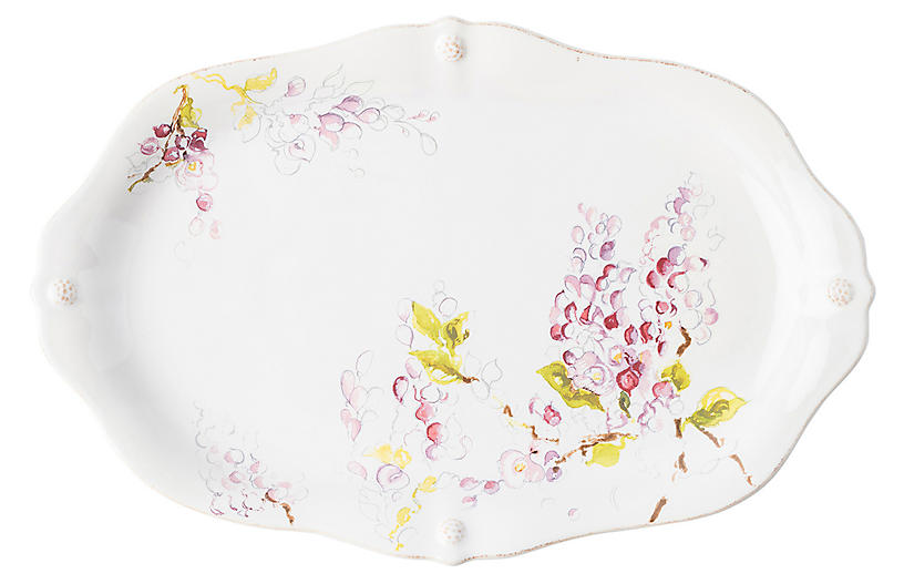 Berry & Thread Wisteria Platter, White/Multi