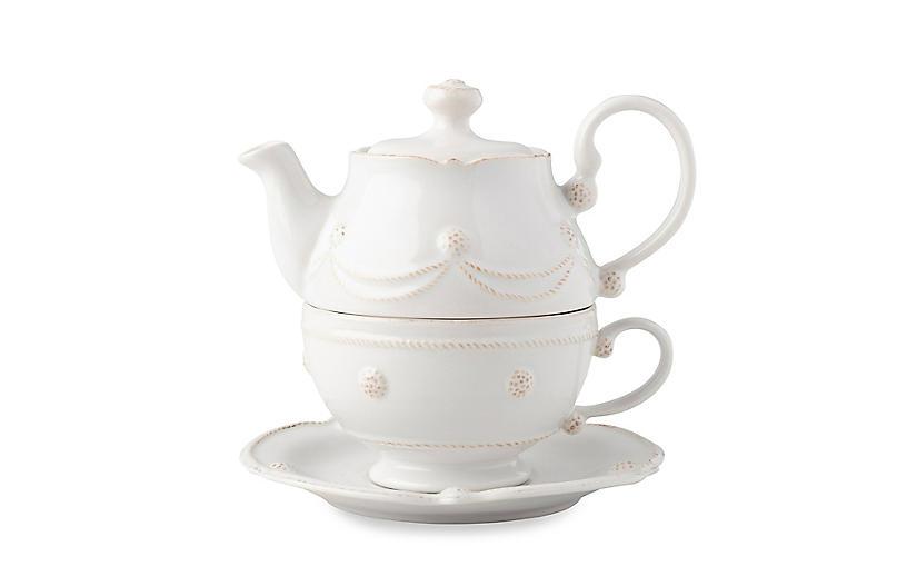 Berry & Thread Tea for One Set, Whitewash