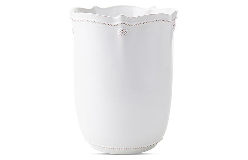 Berry & Thread White Wastebasket