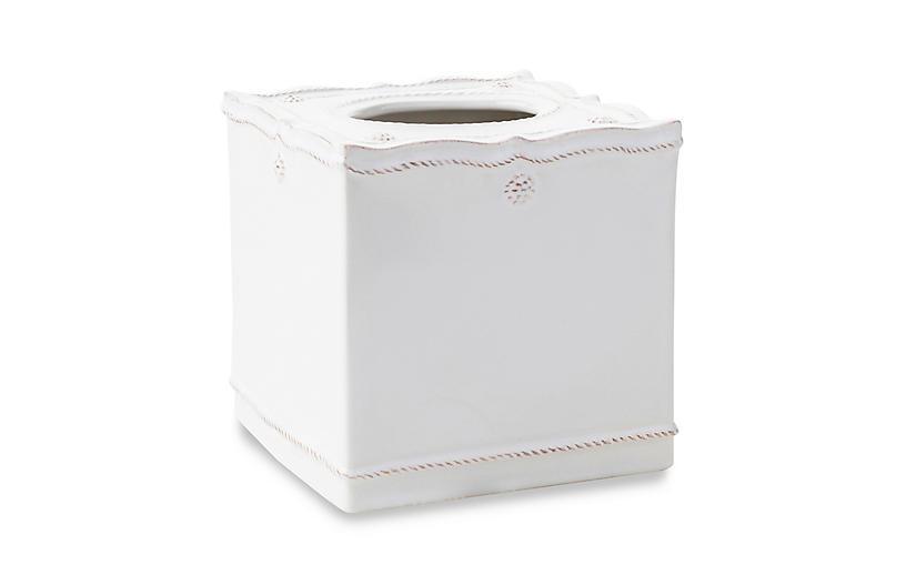 Berry & Thread White Tissue Box Cover