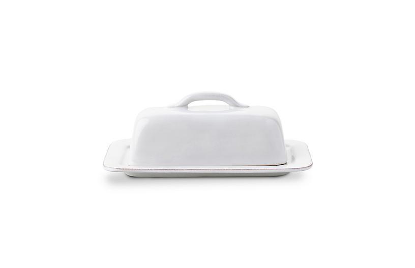 Puro Whitewash Butter Dish