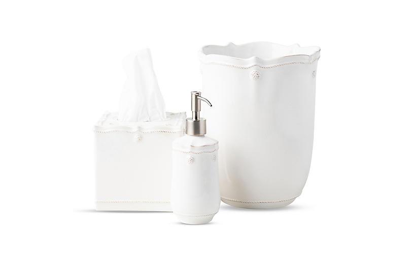 Berry & Thread White 3pc Bath Essentials