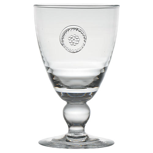 Berry & Thread Footed Goblet, Clear