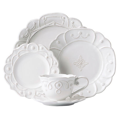 5-Pc Jardins du Monde Place Setting , White