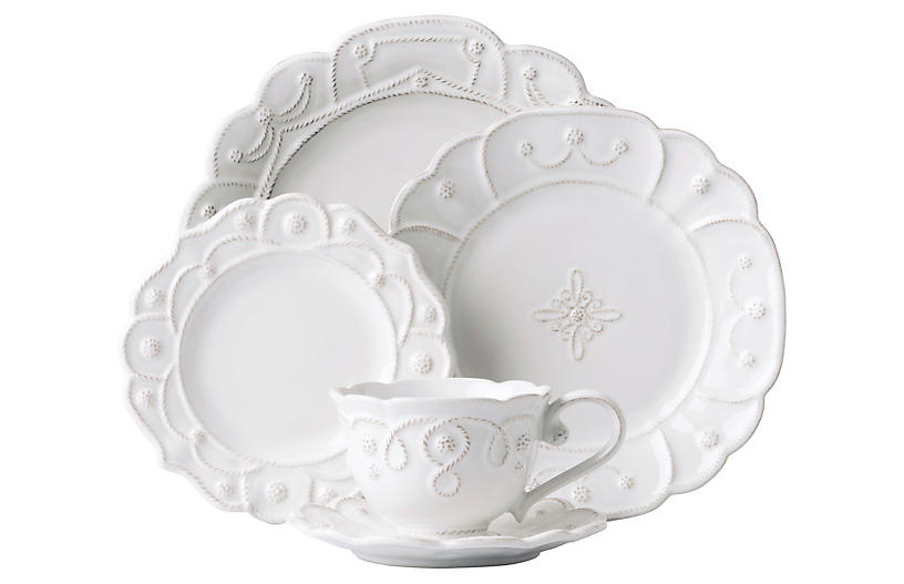 Asst. of 5 Jardins du Monde Place Setting, White