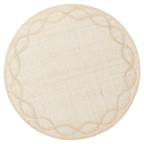 Tuileries Garden Place Mat, Natural