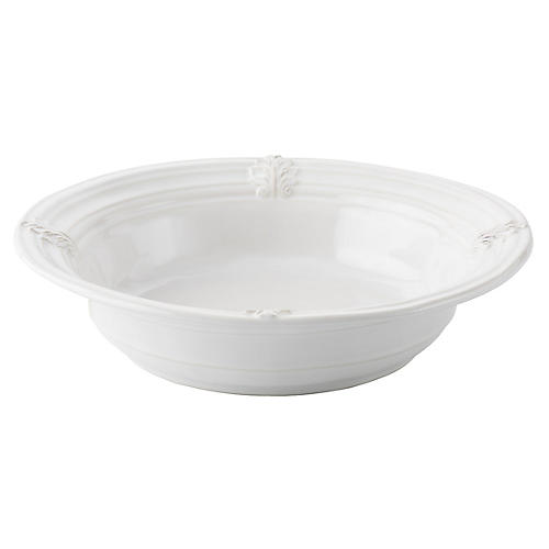 Acanthus Serving Bowl, White