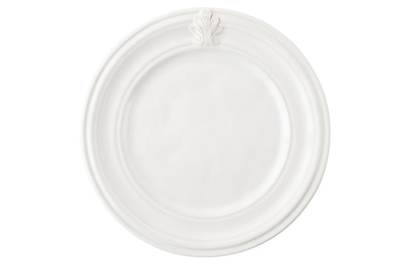Acanthus Cocktail Plate, White