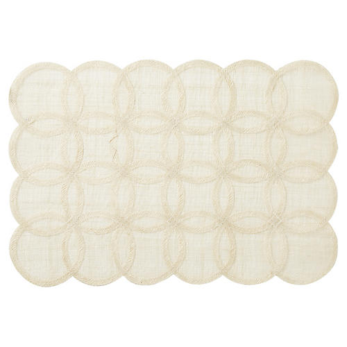 Rings Rectangular Place Mat, Natural