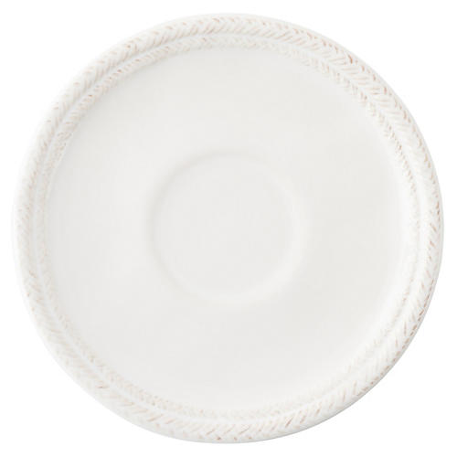 Le Panier Saucer, White