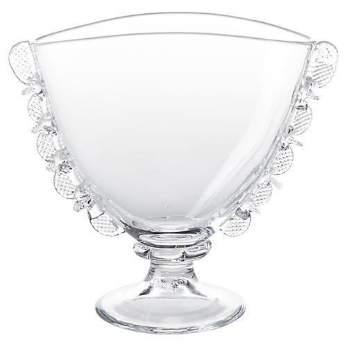 """6"""" Harriet Fan Vase, Clear"""