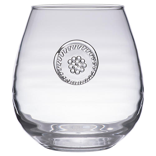 Berry & Thread Stemless Red-Wine Glass, Clear