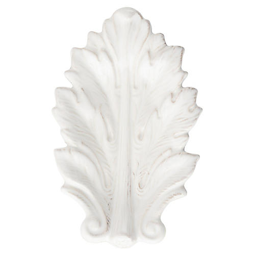 Acanthus Leaf Serving Tray, White