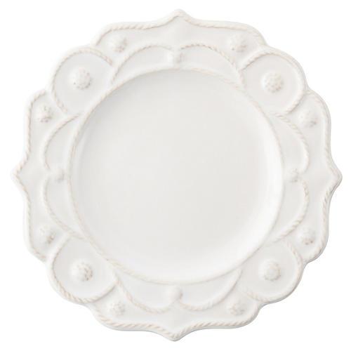 Jardins du Monde Cocktail Plate, White