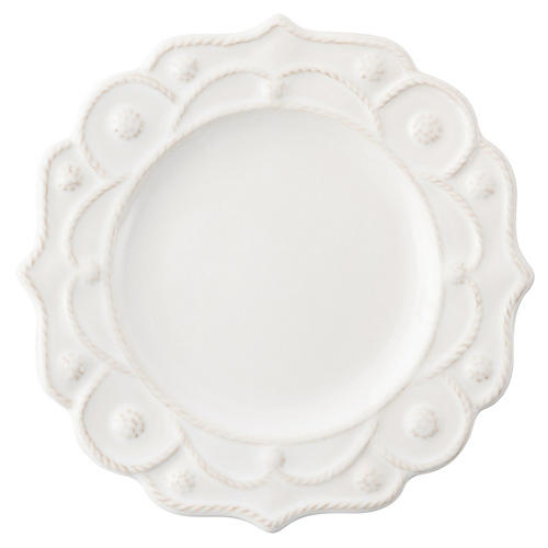 Jardins du Monde Cocktail Plate, White