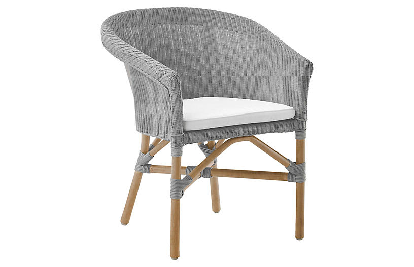 Abbey Chair, Light Gray/Snow White