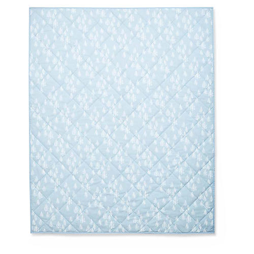 Inverse Seaweed Quilted Baby Blanket, Bay Blue