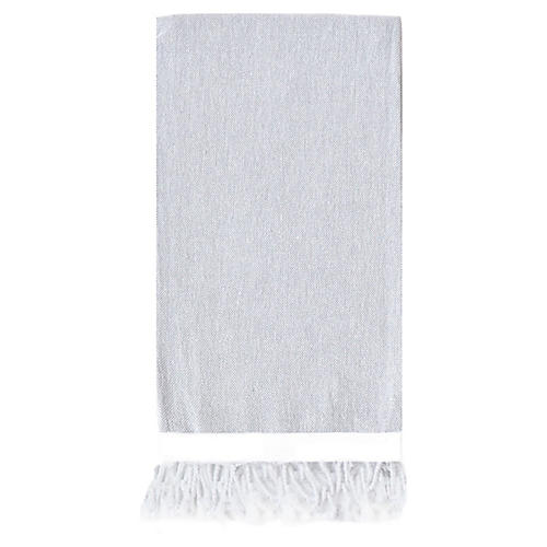 Basic Single-Stripe Towel, Light Gray