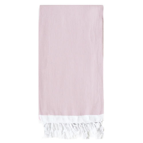 Basic Single-Stripe Towel, Light Pink